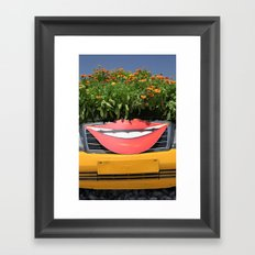 Smiling Car Framed Art Print