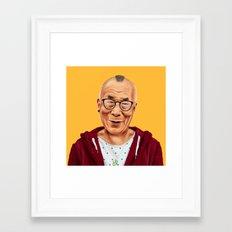 Hipstory -  Dalai Lama Framed Art Print