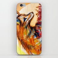Fox In Sunset II iPhone & iPod Skin