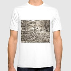 In nature. SMALL Mens Fitted Tee White