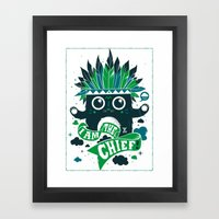 I Am The Chief! Framed Art Print