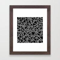 Abstract New White On Bl… Framed Art Print