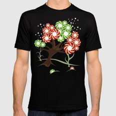 Magic Candy Tree - V2 Mens Fitted Tee Black SMALL