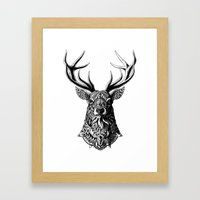 Ornate Buck Framed Art Print
