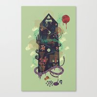 The Ominous and Ghastly Mont Noir Canvas Print
