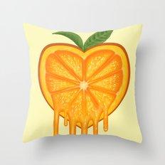 Love Orange Throw Pillow