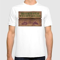 Dionysus Vineyards Mens Fitted Tee White SMALL
