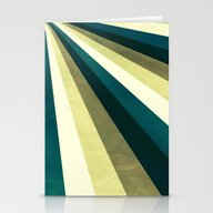 Green Ombre Stripes Stationery Cards