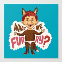 What—me furry? Canvas Print