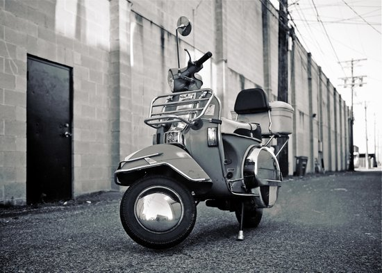 Alleyway Vespa Canvas Print