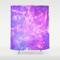 Pink Galaxy Shower Curtain
