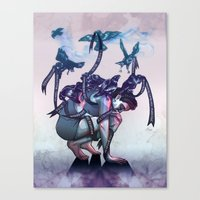 The Pecking Order Canvas Print