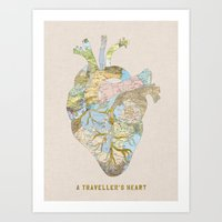 A Traveler's Heart Art Print