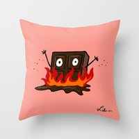 Spicy Chocolate Throw Pillow
