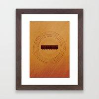 MARS Explorers  - MINIMALIST POSTER Framed Art Print