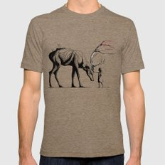 Knowing The Deer Tree Mens Fitted Tee Tri-Coffee SMALL