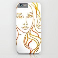 Yellow Portrait iPhone 6 Slim Case