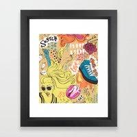 Pop Doodle Framed Art Print