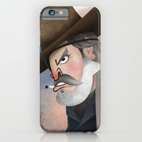 iPhone & iPod Case featuring Rooster Cogburn by Matt Malette