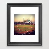 at&t park Framed Art Print