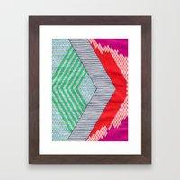 Isometric Harlequin #8 Framed Art Print