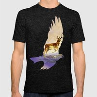 Pronghorn in the Morning Mens Fitted Tee Tri-Black SMALL