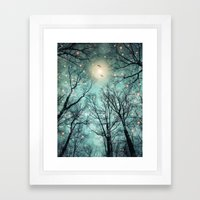 Nature Blazes Before Your Eyes (Mint Embers) Framed Art Print