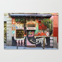 Street Art in Madrid 2 Canvas Print
