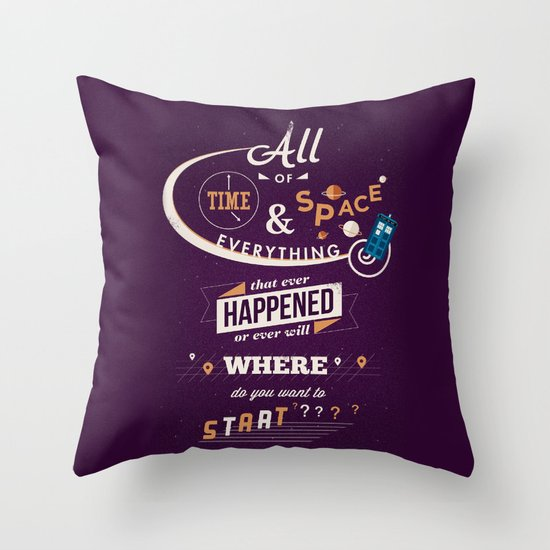 Doctor Who Throw Pillow by Risa Rodil | Society6