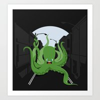 Urban Octopus Art Print