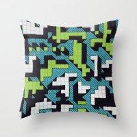 Bad At Tetris Throw Pillow