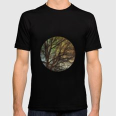 Psychadelic Tree Mens Fitted Tee SMALL Black
