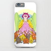 iPhone & iPod Case featuring Cat Lady by Julia Emiliani