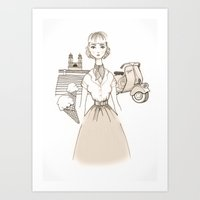 Roman Holiday - Movies & Outfits Art Print