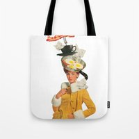 Bacon And Eggs Couture Tote Bag