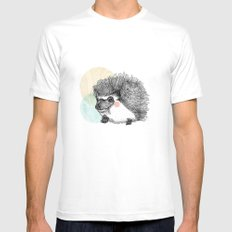 Hedgehog SMALL White Mens Fitted Tee
