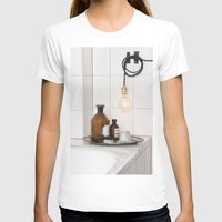 White Tiles  Womens Fitted Tee White SMALL