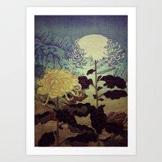 Midnight Climbing towards Kankoi Art Print