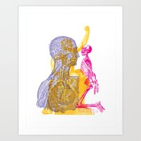 Anatomy Montage 1 Art Print