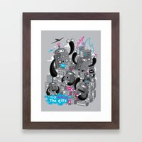 Must destroy the city - Revisited Framed Art Print