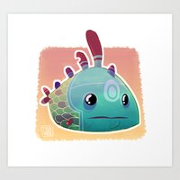 Art Print featuring Exotic Fish by Francesco Malin