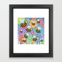 Busy Buzzers. Framed Art Print