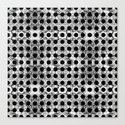 black dot system Canvas Print