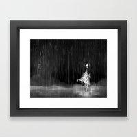 ... As The Rain Fell On … Framed Art Print