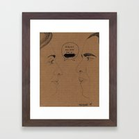 Sexism vs Racism Framed Art Print