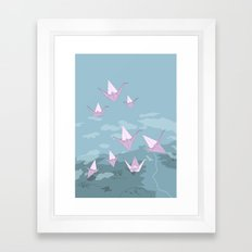 Origami S01 Framed Art Print