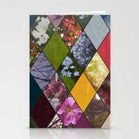 Diamond Flower Collage Stationery Cards