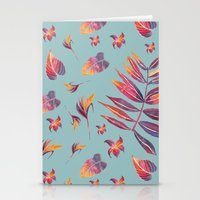 Sunset Tropical Pattern Stationery Cards