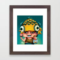 Uncle Gold Fish! Framed Art Print