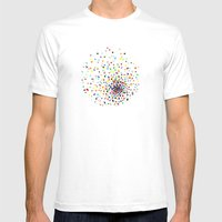 Sunspots Mens Fitted Tee White SMALL